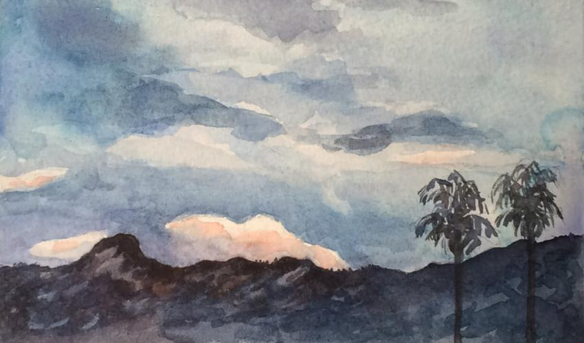 Adult Studio Art Workshop (via Zoom): Watercolor Painting - Cloud SkyScape